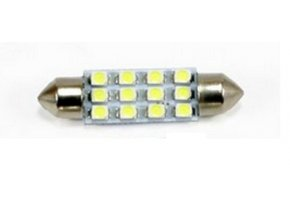 LED auto žárovka LED C5W 12 SMD 1210 42mm