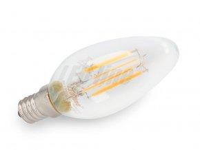 Led line LED žárovka 4W COB Filament E14 490lm teplá bílá