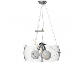 Lampada Designe Stropní závěsné svítidlo LIDIA 500x1500mm 3xE27 transparentní sklo, kov
