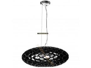 Lampada Designe Stropní závěsné svítidlo LOLANDA 580x1500mm 3xE27 černé sklo, kov