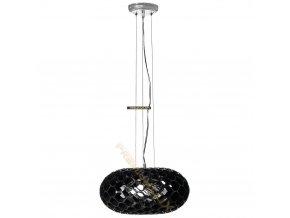 Lampada Designe Stropní závěsné svítidlo LOLANDA 360x1500mm 3xE27 černé sklo, kov