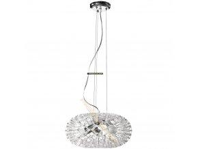 Lampada Designe Stropní závěsné svítidlo LOLANDA 360x1500mm 3xE27 transparentní sklo, kov