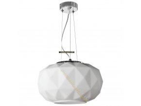 Lampada Designe Stropní závěsné svítidlo ELENA 350x1500mm 1xE27 bílé sklo, kov