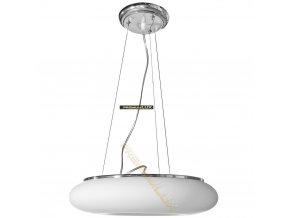 Lampada Designe Stropní závěsné svítidlo DOMENICA 530x1500mm 4xE27 bílé sklo, kov