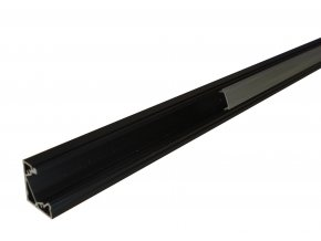 Hliníkový profil MiniLUX  30/60° 1m pro LED pásky, černý