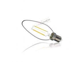 Ledlumen LED žárovka 2W COB Filament E14 240lm Teplá