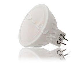 Ledlux LED žárovka 10W 230V 12xSMD GU5.3/MR16 790lm Studená