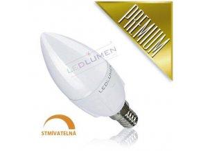 Ledlumen LED žárovka 6W 8x2835 E14 640lm CCD Teplá Stmívatelná