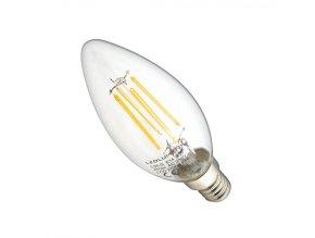 LEDlumen LED žárovka 4W COB Filament E14 470lm Teplá