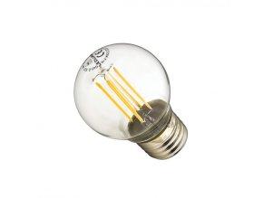 Ledlumen LED žárovka 4W 4xCOS Filament E27 470lm CCD Teplá