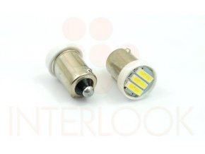 Interlook LED auto žárovka LED BA9S 3 SMD 7014 T4W