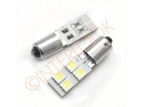 Interlook LED auto žárovka LED BA9S 4 SMD 5050 T4W CAN BUS