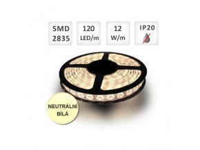 PremiumLED LED pásek 1m, 120ks/m, 2835, 12W/m, Neutrální