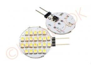 Interlook LED žárovka 2,4W 24xSMD1210 G4 200lm 12V DC Teplá