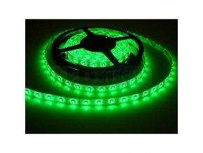PremiumLED LED pásek 1m, Zelený, 60ks/m, 3528, 4,8W/m, Voděodolný-silikon