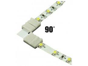 Spojka rohová KLIK pro LED pásky o šířce 8mm