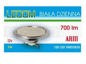 pol pl zarowka lampa led 120 smd2835 ar111 12v 7w b dzienna 1352 1[1]