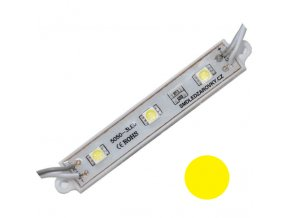PremiumLED LED Modul 3xSMD 5050 0,72W 60lm 12V Žlutá