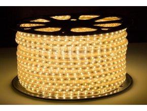 Berge LED pásek 1m, 230V, 120ks, 2835, 11W/m, Silikon, Teplá