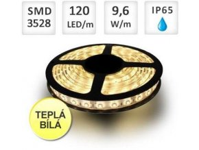 Berge LED pásek 5m, 120ks/m, 3528, 9,6W/m, voděodolný-silikon, Teplá