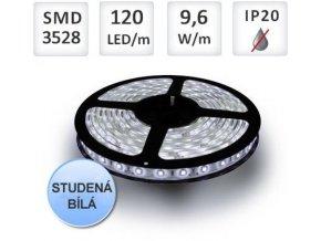 Berge LED pásek 5m, 120ks/m, 3528, 9,6W/m, Studená