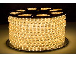Berge LED pásek 1m, 230V, 60ks, 2835, 6W/m, Silikon, Teplá bílá