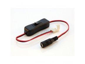Berge Konektor s vypínačem pro LED pásky o šířce 10mm, 2,1/5,5mm