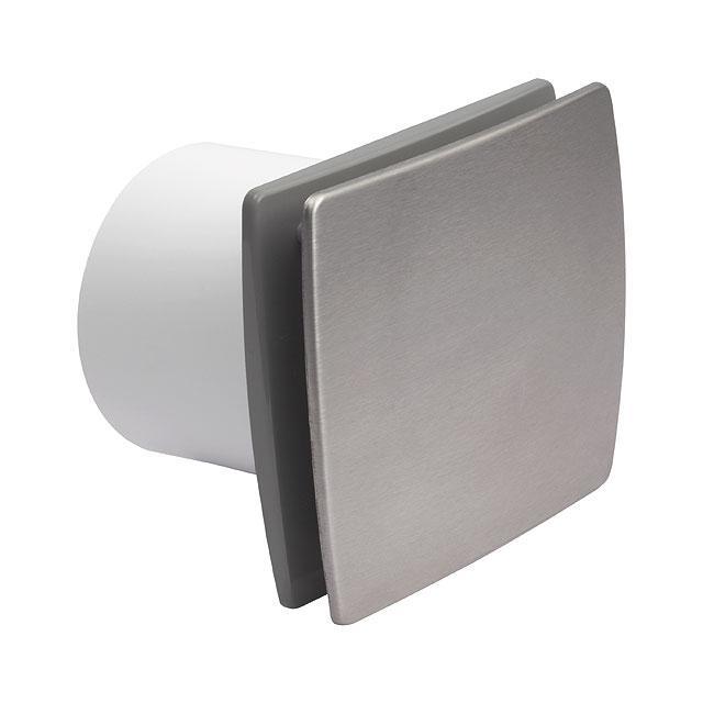 Kanlux 70976 CYKLON EOL F100 B - SF - Stříbrný ventilátor s čelním panelem