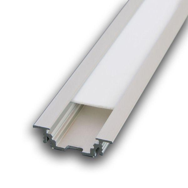 Hliníkový profil GROOVE zápustný 1m pro LED pásky, ALU lišta