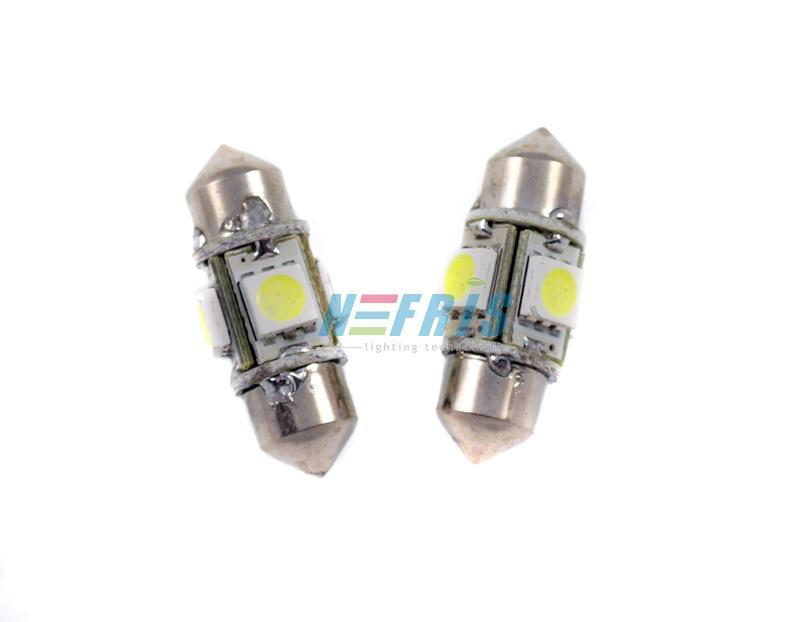 LED auto žárovka LED C5W 4 SMD 5050 360° 31mm
