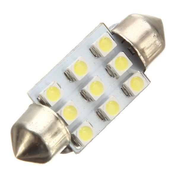 LED auto žárovka LED C5W 6 SMD 1210 42mm