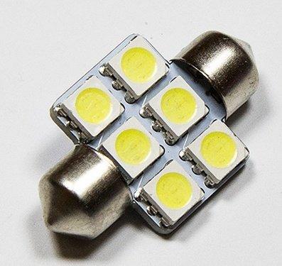 LED auto žárovka LED C5W 6 SMD 5050 31mm