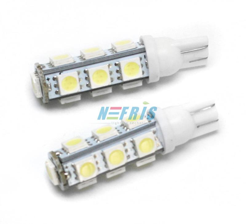 LED auto žárovka LED T10 W5W 13 SMD 5050
