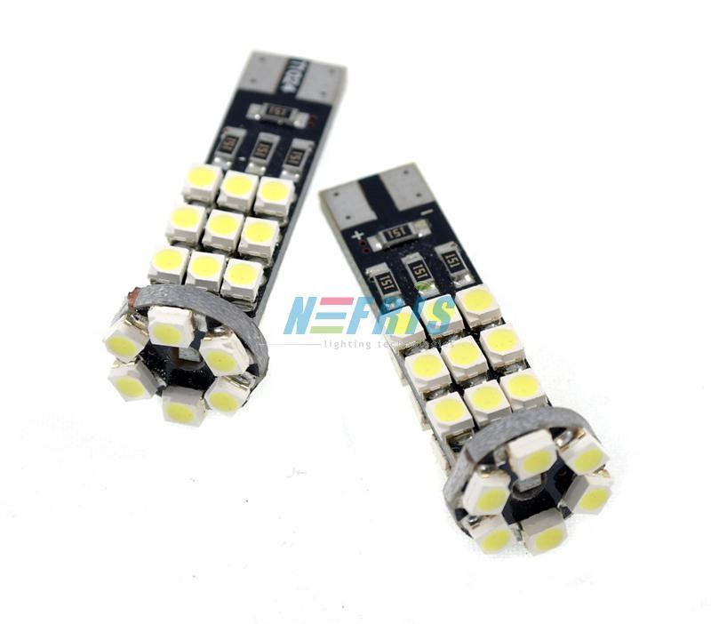 LED auto žárovka LED T10 W5W 24 SMD 1210 CAN BUS 2