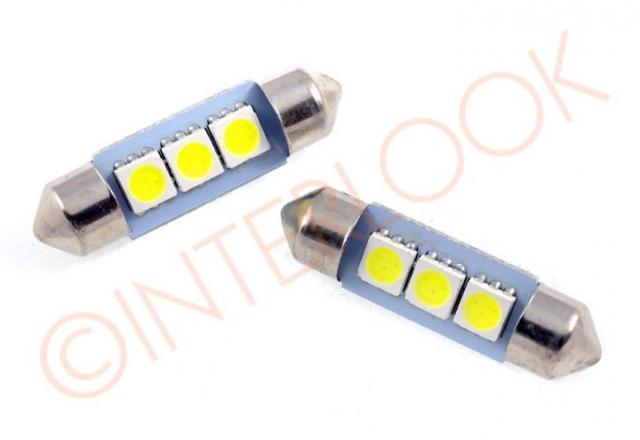 Interlook LED auto žárovka LED C5W 3 SMD 5050 36mm