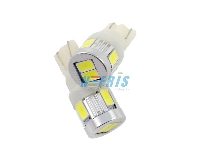 LED auto žárovka LED T10 W5W 6 SMD 5630 bílá