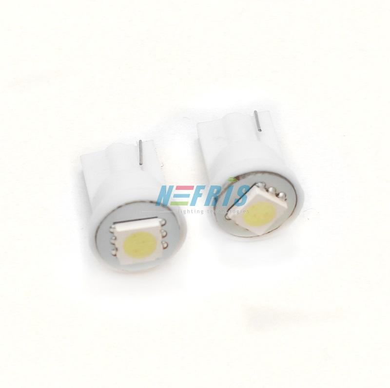 LED auto žárovka LED W5W T10 1 SMD 5050