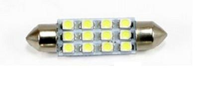 LED auto žárovka LED C5W 12 SMD 1210 42mm