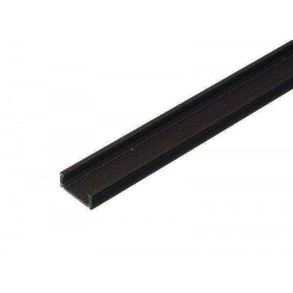 Hliníkový profil MiniLUX ČERNÝ 1m pro LED pásky, ALU lišta