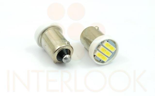 Interlook LED auto žárovka LED BA9S 3 SMD 7014 H6W