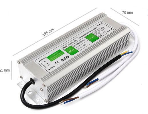 Napájecí zdroj 150W 12,5A 12V DC, voděodolný / venkovní