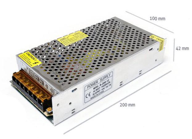 Napájecí zdroj 200W 16,7A 12V DC