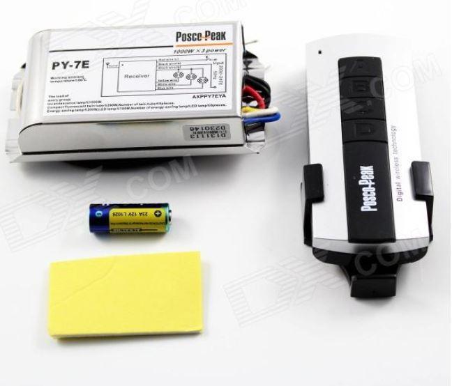 PremiumLED RF tříkanálový spínač s dálkovým ovladačem 230V 3x1000W