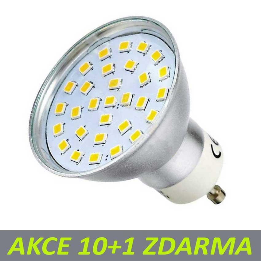 Ledlux LED žárovka 6W 30xSMD2835 GU10 500lm Neutrální