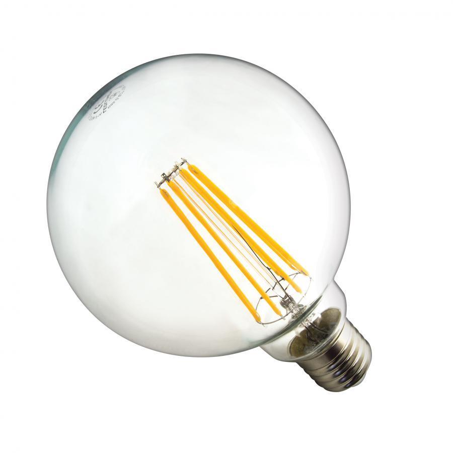 Ledlumen LED žárovka 10W 8xCOS Filament E27 1250lm CCD Teplá
