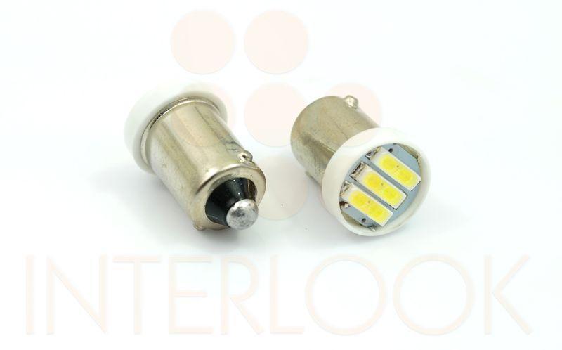 Interlook LED auto žárovka LED BA9S 3 SMD 7014 T4W