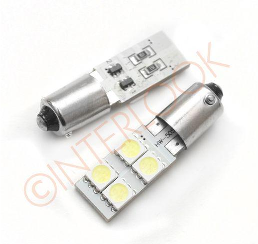 Interlook LED auto žárovka LED BA9S 4 SMD 5050 T4W CAN BUS