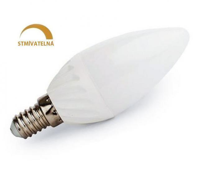Ledspace LED žárovka 8W 14xSMD2835 E14 750lm Teplá Stmívatelná