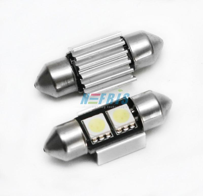 Interlook LED auto žárovka LED C5W 2 SMD 5050 CAN BUS