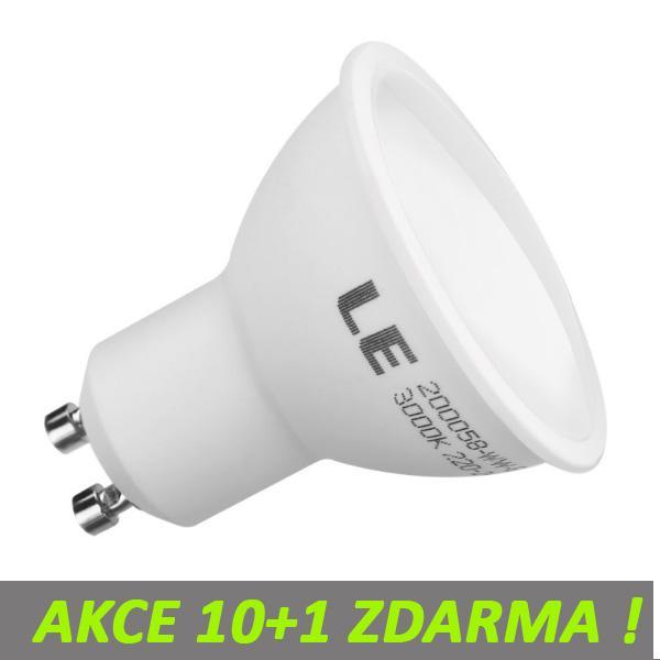 AKCE: 10+1 Ledpsace LED žárovka 5W GU10 480lm Teplá